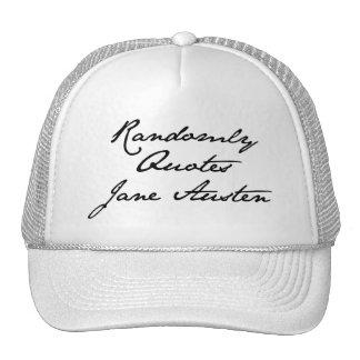 Cita aleatoriamente el gorra de Jane Austen