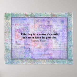 Cita alegre, coqueta de Charlotte Bronte Póster