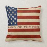 Cita - almohada de la bandera americana del