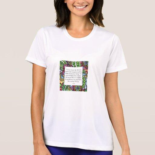 Cita animal de Gandhi Camisetas