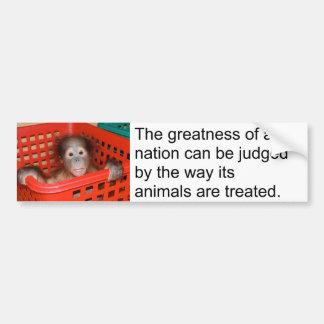 Cita animal de motivación de Gandhi Pegatina De Parachoque