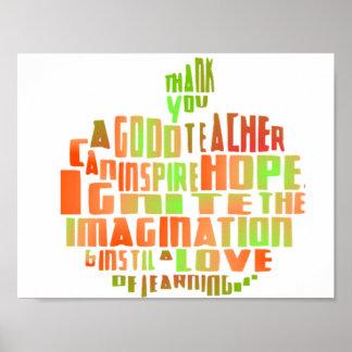 Cita Apple de la tipografía del poster del regalo