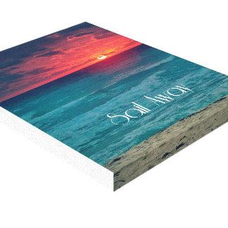Cita ausente de la vela contemporánea de la playa impresión en lienzo