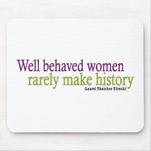 Cita bien comportada de las mujeres alfombrilla de ratones