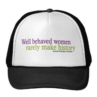 Cita bien comportada de las mujeres gorra