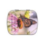 Cita bonita de los amigos de la mariposa latas de caramelos