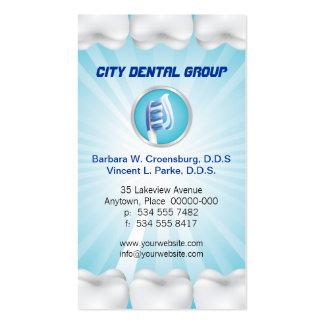 Cita brillante del dentista de los dientes tarjetas de visita