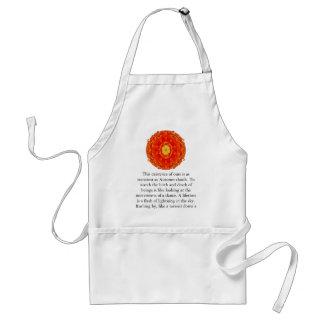 Cita budista con diseño espiritual vibrante delantal