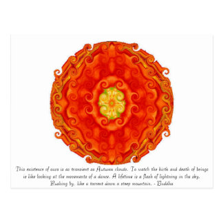 Cita budista con diseño espiritual vibrante tarjetas postales