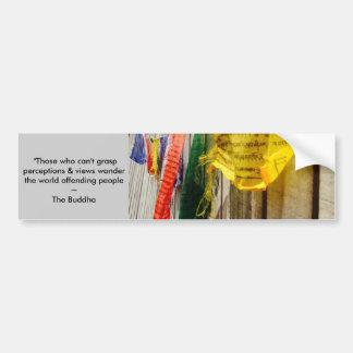 Cita budista de las banderas w/long del rezo del pegatina para auto