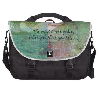 Cita budista de motivación bolsas de portatil