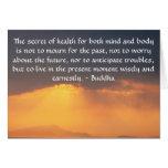 Cita budista hermosa con la foto inspirada tarjeta