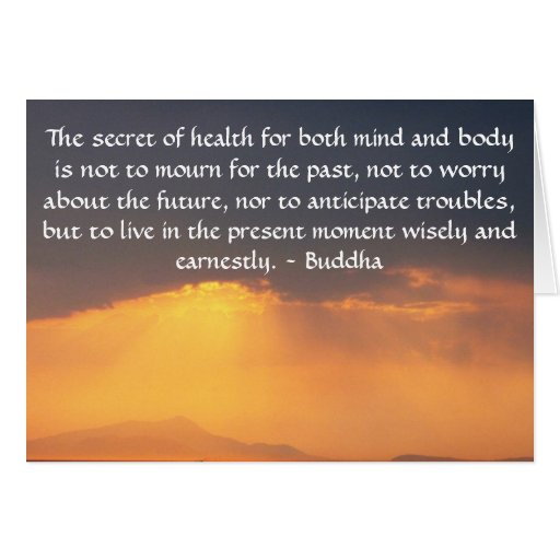 Cita budista hermosa con la foto inspirada tarjeta de felicitación