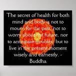 Cita budista hermosa con Mandela vibrante Póster