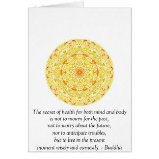 Cita budista hermosa con Mandela vibrante Tarjetón