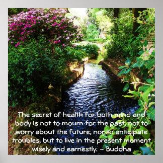 Cita budista hermosa sobre salud y salud póster