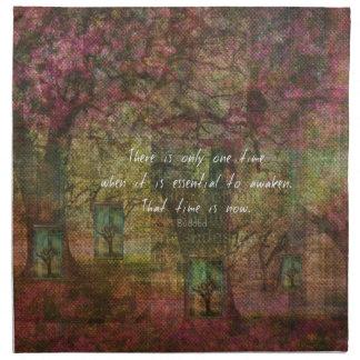 Cita budista inspirada con la pintura soñadora servilleta