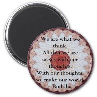 Cita budista INSPIRADA, decir Imán Redondo 5 Cm