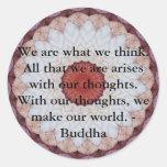 Cita budista INSPIRADA, decir Pegatina Redonda