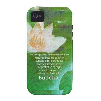Cita budista inspirada sobre VIAJE de la VIDA iPhone 4 Carcasas