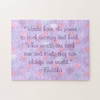 Cita buena de las palabras de Buda Puzzle