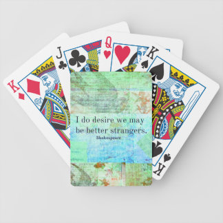 Cita chistosa del insulto de Shakespeare Baraja Cartas De Poker