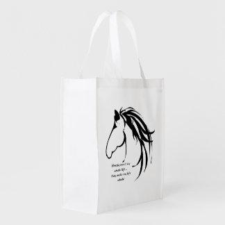 Cita clásica del toda la vida del logotipo de la bolsas reutilizables