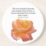 Cita color de rosa y de la espina abigarrada amari posavasos personalizados