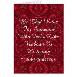 """Cita con el significado """"sea esa voz """" tarjeta de felicitación"""