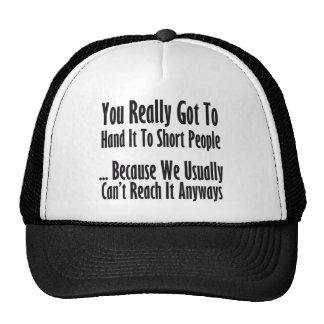 Cita corta de la gente gorras