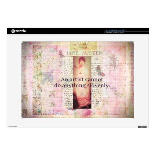 Cita creativa sobre artistas de Jane Austen 38,1cm Portátil Calcomanía