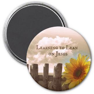 Cita cristiana: Aprendizaje inclinarse en Jesús Imán Redondo 7 Cm