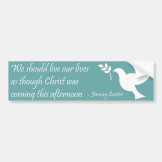 Cita cristiana pegatina para auto