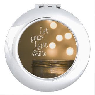 Cita cristiana del verso inspirado de la biblia espejos compactos
