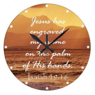 Cita cristiana inspirada de la biblia reloj redondo grande