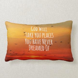 Cita cristiana inspirada: Dios lo va a hacer Cojines