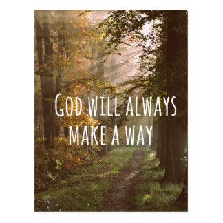 Cita cristiana inspirada: Dios lo va a hacer Postal