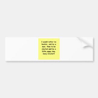 cita davy del crockett pegatina de parachoque