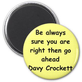 cita davy del crockett imán de frigorífico