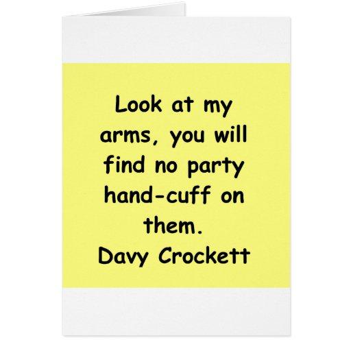 cita davy del crockett tarjeta de felicitación