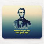 Cita de Abraham Lincoln Alfombrilla De Ratones