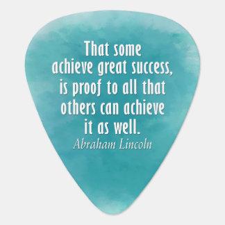 Cita de Abraham Lincoln en el éxito - acuarela Plumilla De Guitarra
