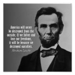 Cita de Abraham Lincoln en la libertad Impresiones