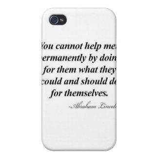 Cita de Abraham Lincoln iPhone 4 Cárcasa