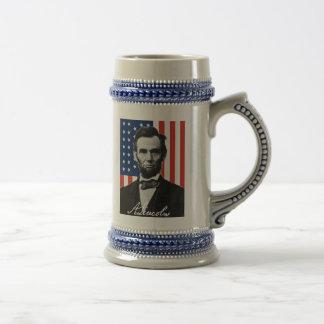 Cita de Abraham Lincoln Gettysburg Jarra De Cerveza