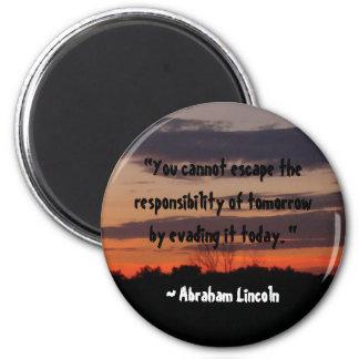 Cita de Abraham Lincoln Imán Redondo 5 Cm