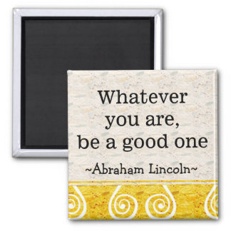 Cita de Abraham Lincoln - inspirado de motivación Imanes Para Frigoríficos