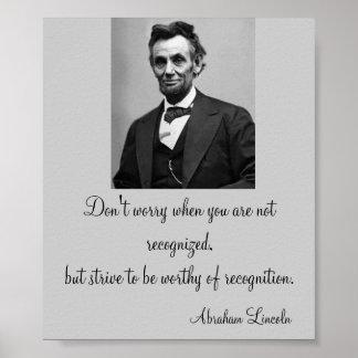 Cita de Abraham Lincoln Póster