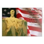 Cita de Abraham Lincoln Tarjeton