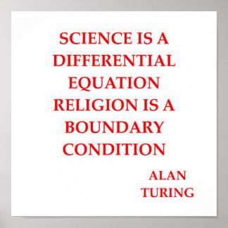 cita de Alan Turing Póster